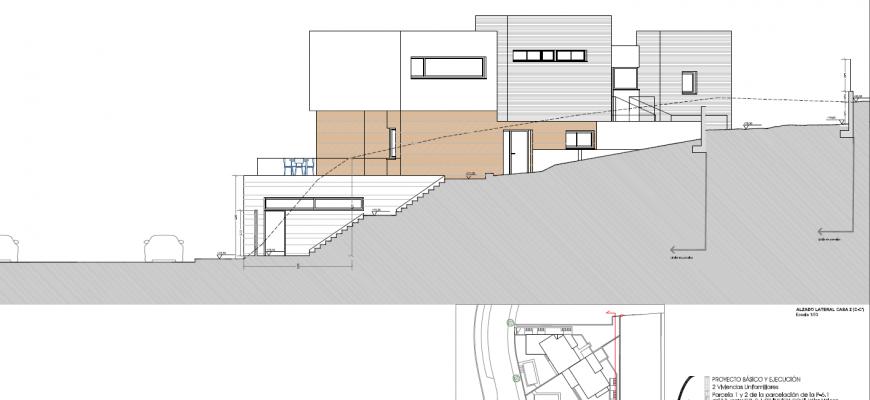 Alzado lateral casa 2